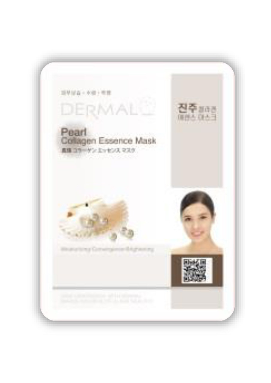 Dermal Pearl Collagen Essence Mask Тканевая маска на основе жемчужной эссенции и коллагена