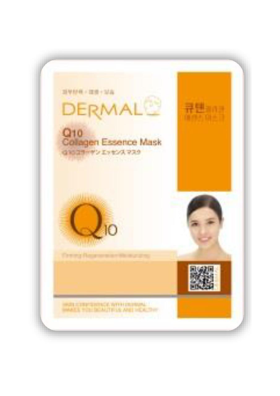 Dermal Q10 Collagen Essence Mask Тканевая маска на основе эссенции коэнзима Q10 и коллагена