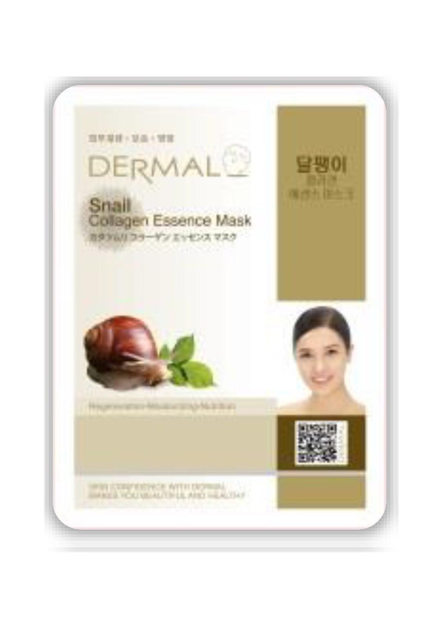 Dermal Snail Collagen Essence Mask Тканевая маска на основе эссенции улиточного муцина и коллагена