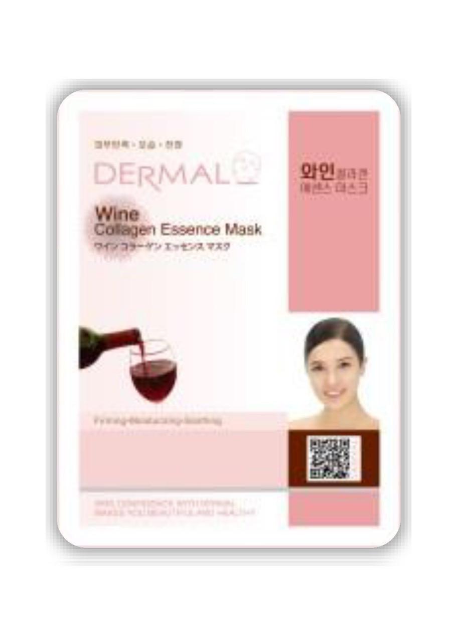 Dermal Wine Collagen Essence Mask Тканевая маска на основе эссенции красного вина и коллагена