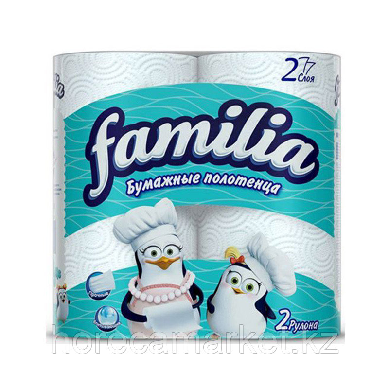 Полотенца бумажные familia 2сл 2x14 рулонов