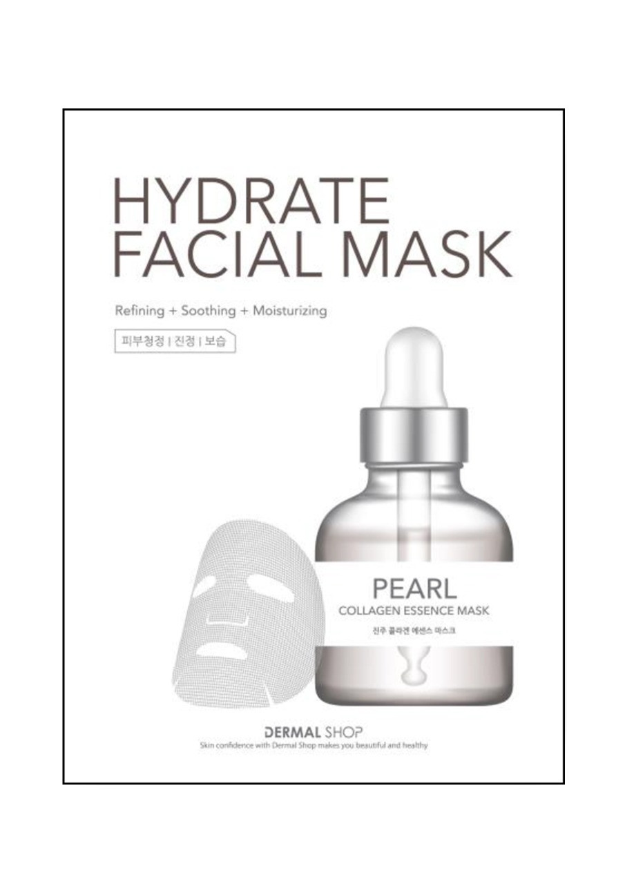 Dermal Shop Pearl Hydrate Facial Mask Тканевая маска с жемчужной пудрой и коллагеном