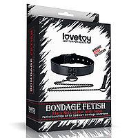 Ошейник с цепью Bondage Fetish Black, фото 1