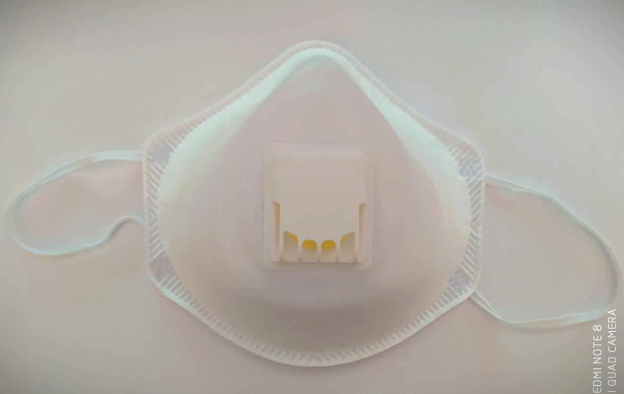 Полумаска фильтрующая (респиратор), формованная, с клапаном выдоха, FFP2