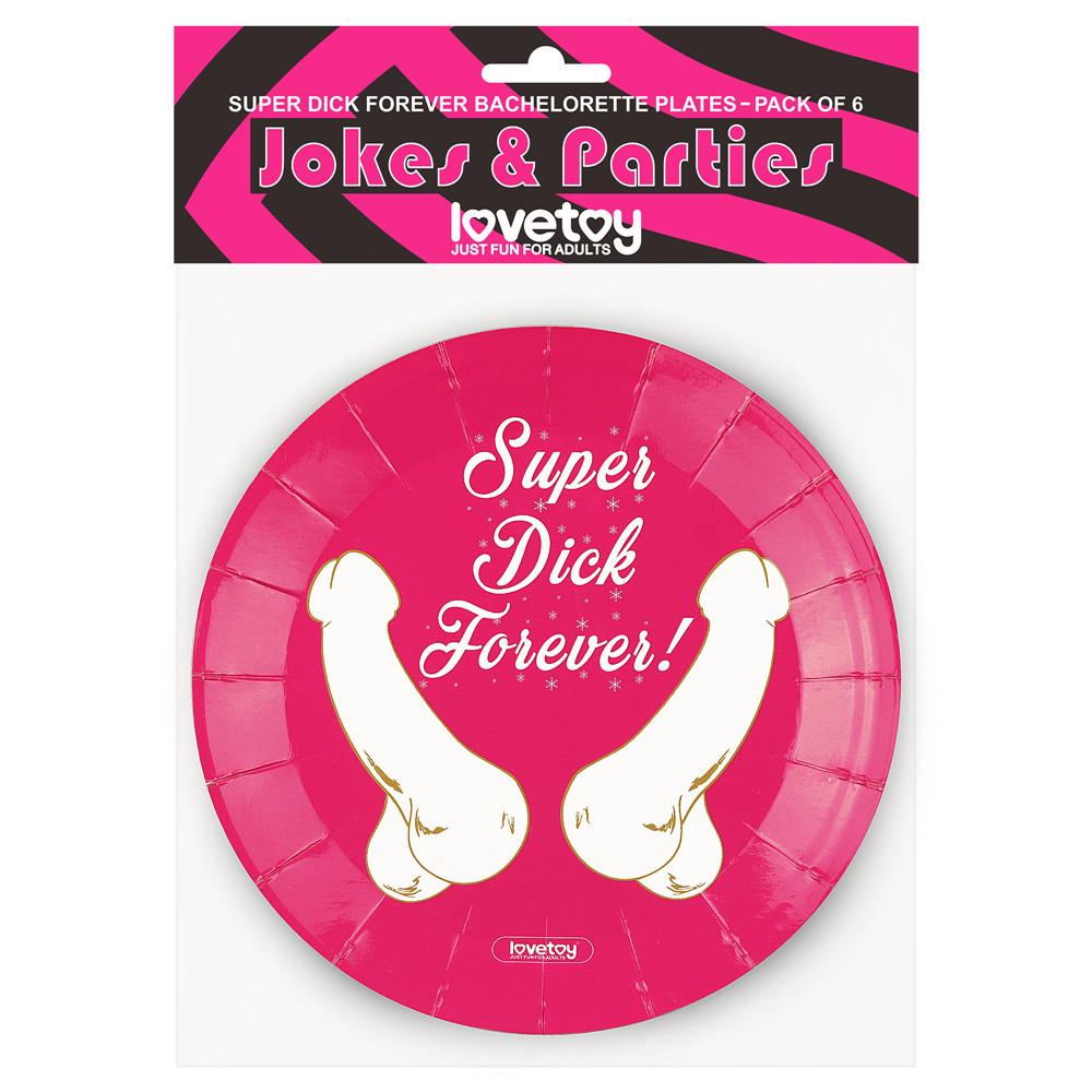 Бумажные тарелки Super Dick Forever (6 шт.)