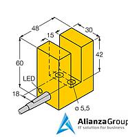 Индуктивный щелевой датчик TURCK SI15-K30-AN6X