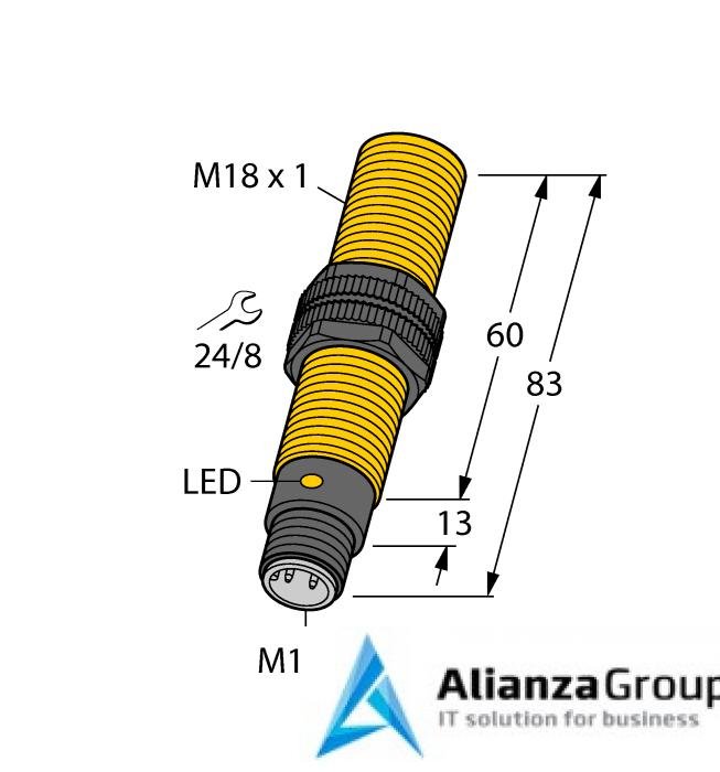 Емкостной датчик уровня TURCK BCF5-S18-AN4X-H1141/S250