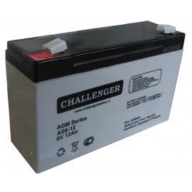 Аккумулятор для детского электромобиля, мотоцикла Challenger AS6-12A (6В, 12Ач)