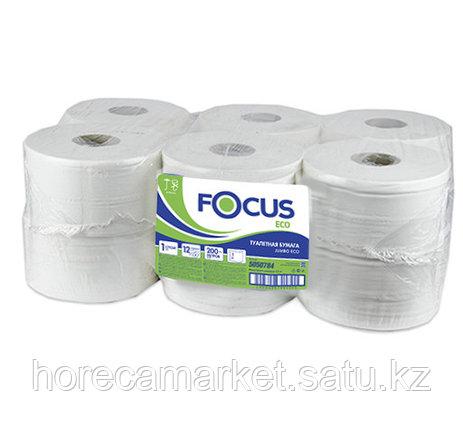 Туалетная бумага Focus 1сл. 12x200m, фото 2