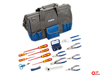Тканевая сумка с набором инструмента для электрика 9022-2-19TS2