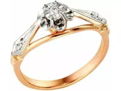 Золотое кольцо РусГолдАрт 1110213_1_5_1_185