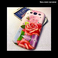 Чехол-крышка на телефон Samsung Galaxy S3/i9300 роза