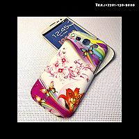 Чехол-крышка на телефон Samsung Galaxy S3/i9300 бабочки с лилией