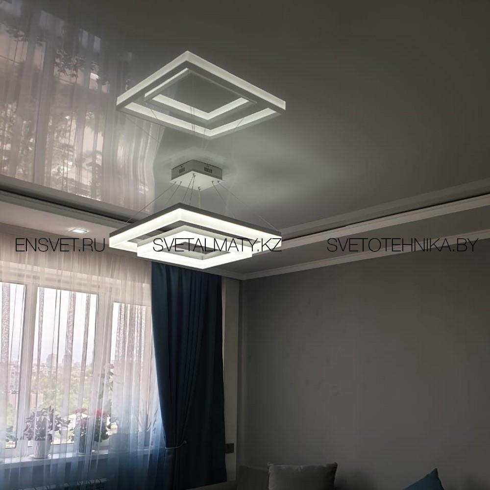 LED люстра Квадраты 160W 3000-4500-6500К