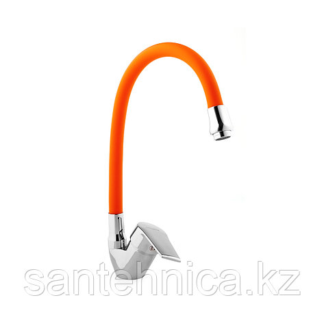 Смеситель для кухни гибкий Advance 74301-7 оранжевый, фото 2