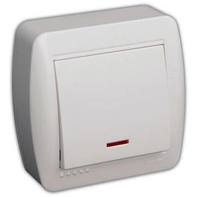 Выключатель с подсветкой белый DEMET 711-0200-111