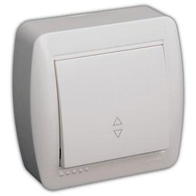 Выключатель проходной белый DEMET 711-0200-105