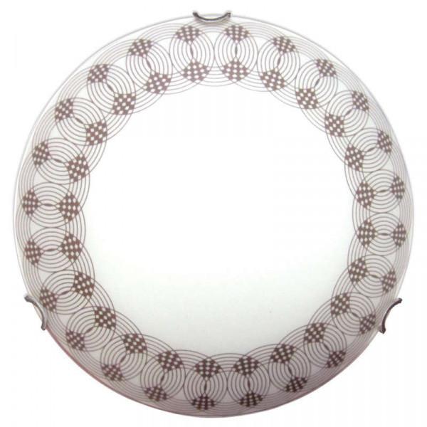 Светильник 250 Вальс НПБ 01-60-130 М15 матовый белый декор/кл.хром ИУ