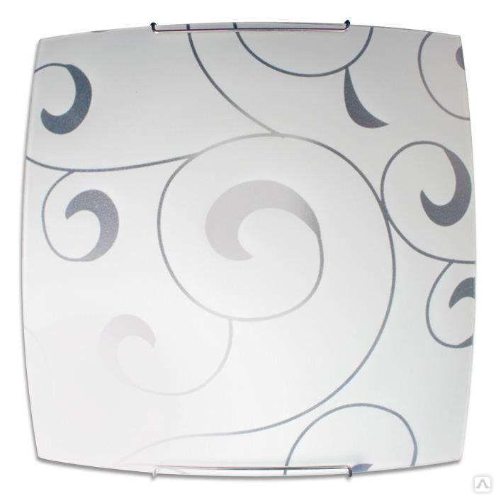 Светильник 300*300 Морокко НПБ 09-60-003 М83 матовый белый/кл.штамп металлик ИУ 04016