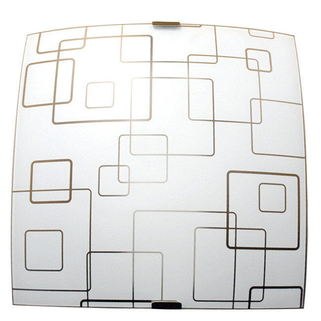 Светильник 300*300 Оазис НПБ 09-60-003  М83 матовый белый/кл.штамп металлик ИУ
