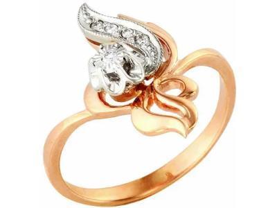Золотое кольцо РусГолдАрт 1110013_1_5_1_17