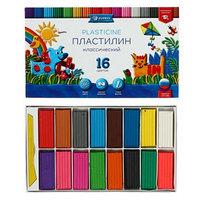 Пластилин GLOBUS 'Классический', 16 цветов, 320 г, рекомендован педагогами