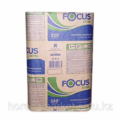 Полотенца бум. Focus Extra Z-слож. 1-сл 250 шт в коробке 12 уп
