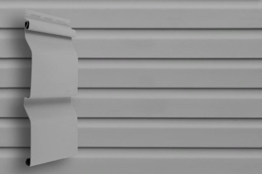 Сайдинг Серый  3000x205 мм Grand Line D4 (slim)