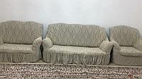 Чехол на 3-х местный диван + 2-х местный диван + кресло