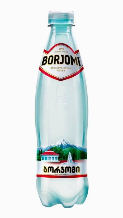 Borjomi (минеральная вода Боржоми) - 0,5 л. пластик