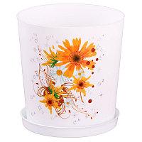 """Горшок цветочный """"Совершенство"""" с поддоном, 1.8 л, Белый, М1599"""