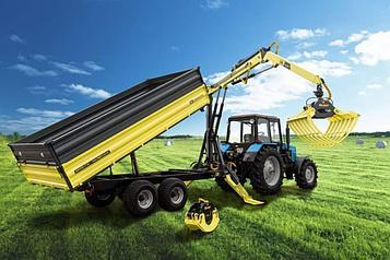 Тракторный полуприцеп с гидроманипулятором DL Agromaster