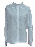 Белая блузка с цельнокроенными рукавами