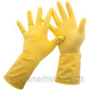 Перчатки резиновые желтые L