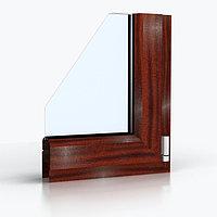 Ламинированные Окна ПВХ. Цвет - Махагон (металлопластиковые, пластиковые окна), фото 1
