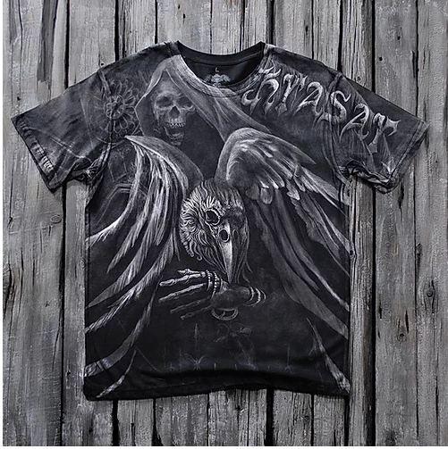 «Чёрный ворон» тотальная футболка мужская