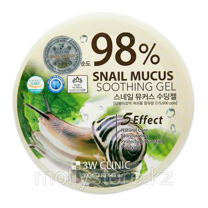 Гель с улиткой 3W Clinic Snail Mucus Soothing Gel 98%  300МЛ