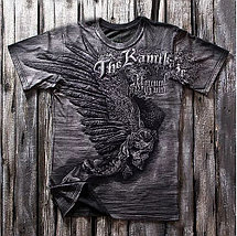 «Черный камикадзе» тотальная четырехсторонняя футболка мужская, фото 3