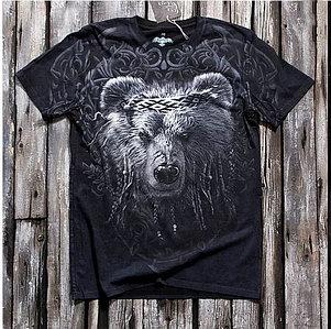 «Мудрый медведь» тотальная футболка мужская