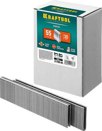 Скобы для степлера узкие, Kraftool, скобы тип 55, 30 мм (31789-30), фото 2