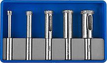 Набор сверл алмазных трубчатых по кафелю и стеклу с кондуктором ЗУБР, Ø4, 6, 8, 10, 12 мм, 5 предме (29851-H6), фото 2
