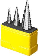 Ступенчатые сверла по сталям и цветным металлам Stayer, 3 шт., HSS (29660-4-30-H3)