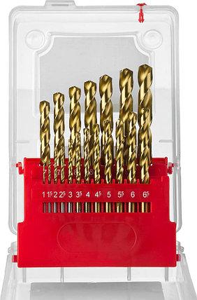 Набор сверл по металлу ЗУБР, 19 шт. (Ø 1-10 мм) ТИТАН, Р6М5, класс А (29617-H19), фото 2