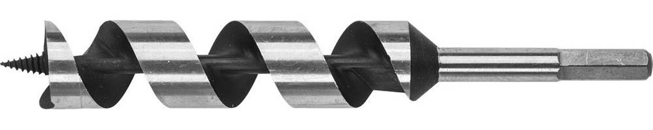 Сверло по дереву ЗУБР, d=32 х 235 мм, HEX хвостовик, спираль Левиса (2948-235-32_z01)