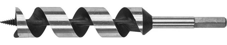 Сверло по дереву ЗУБР, d=32 х 235 мм, HEX хвостовик, спираль Левиса (2948-235-32_z01), фото 2