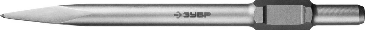 Пикообразное зубило ЗУБР, 600 мм, HEX 30 (29375-00-600)