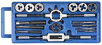 ЗУБР 16 предметов,9ХС, набор метчиков и плашек в пластик. Боксе (28122-H16)