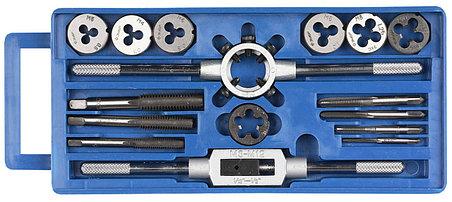 ЗУБР 16 предметов,9ХС, набор метчиков и плашек в пластик. Боксе (28122-H16), фото 2