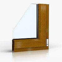 Ламинированные окна ПВХ - Цвет: Золотой дуб (металлопластиковые, пластиковые окна)