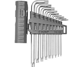 Ключи имбусовые длинные в наборе ЗУБР 9 шт., Cr-V (2745-4-1_z01)